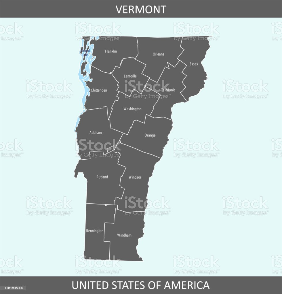 Vermont County Map Stock Illustration - Download Image Now ...