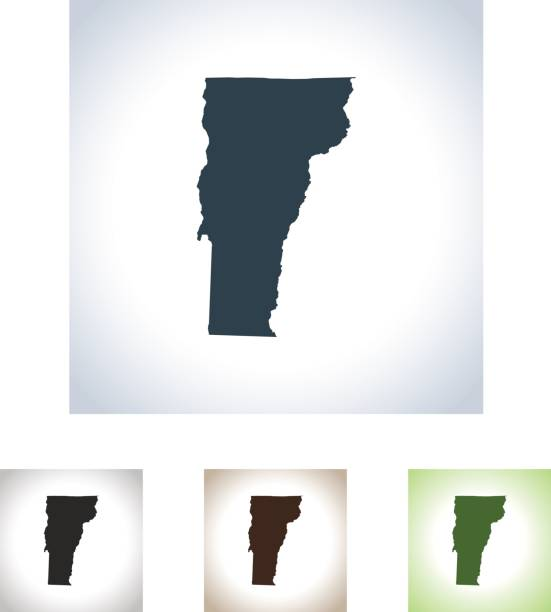 Vermont map vector art illustration