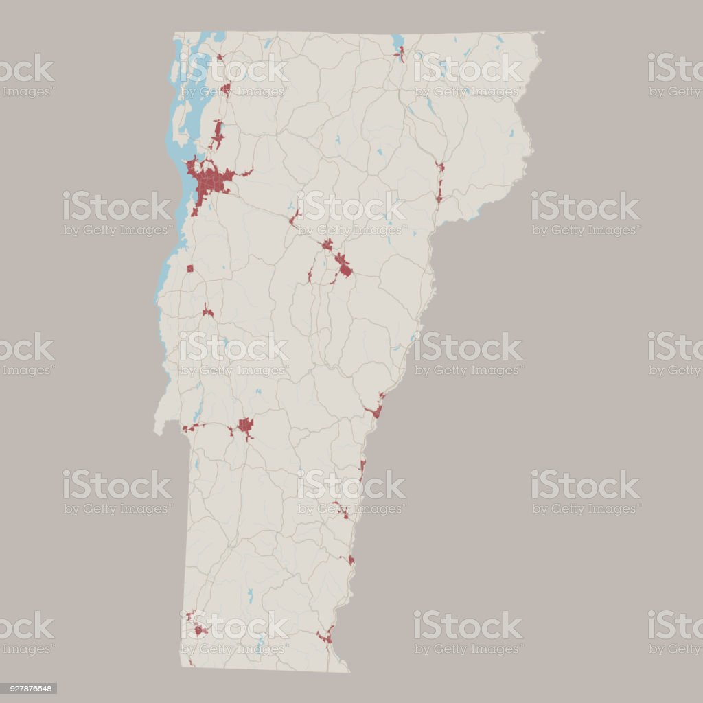 Roadmap Of The Us%0A Road Map Usa Free Vermont US State Road Map royaltyfree vermont us state road  map stock