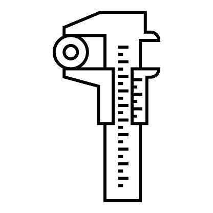 Vernier scale Design Vector Mathematical Measurement tool Icon Design