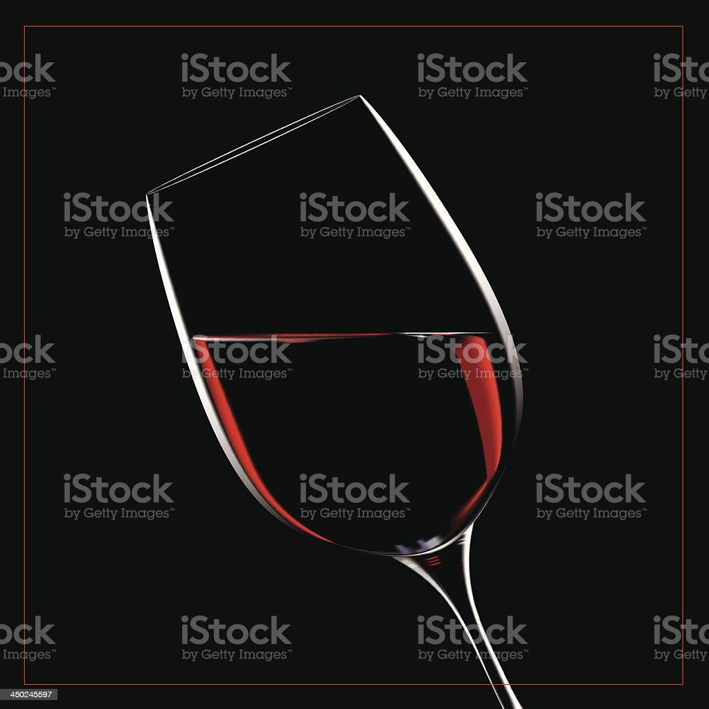 Verre de vin_Glass of wine vector art illustration