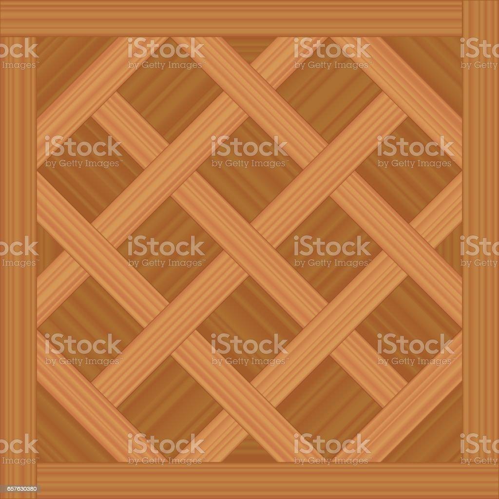 Versailles Parkett   Vektor Illustration Eines Alten Holzboden Muster.  Lizenzfreies Versailles Parkett Vektorillustration
