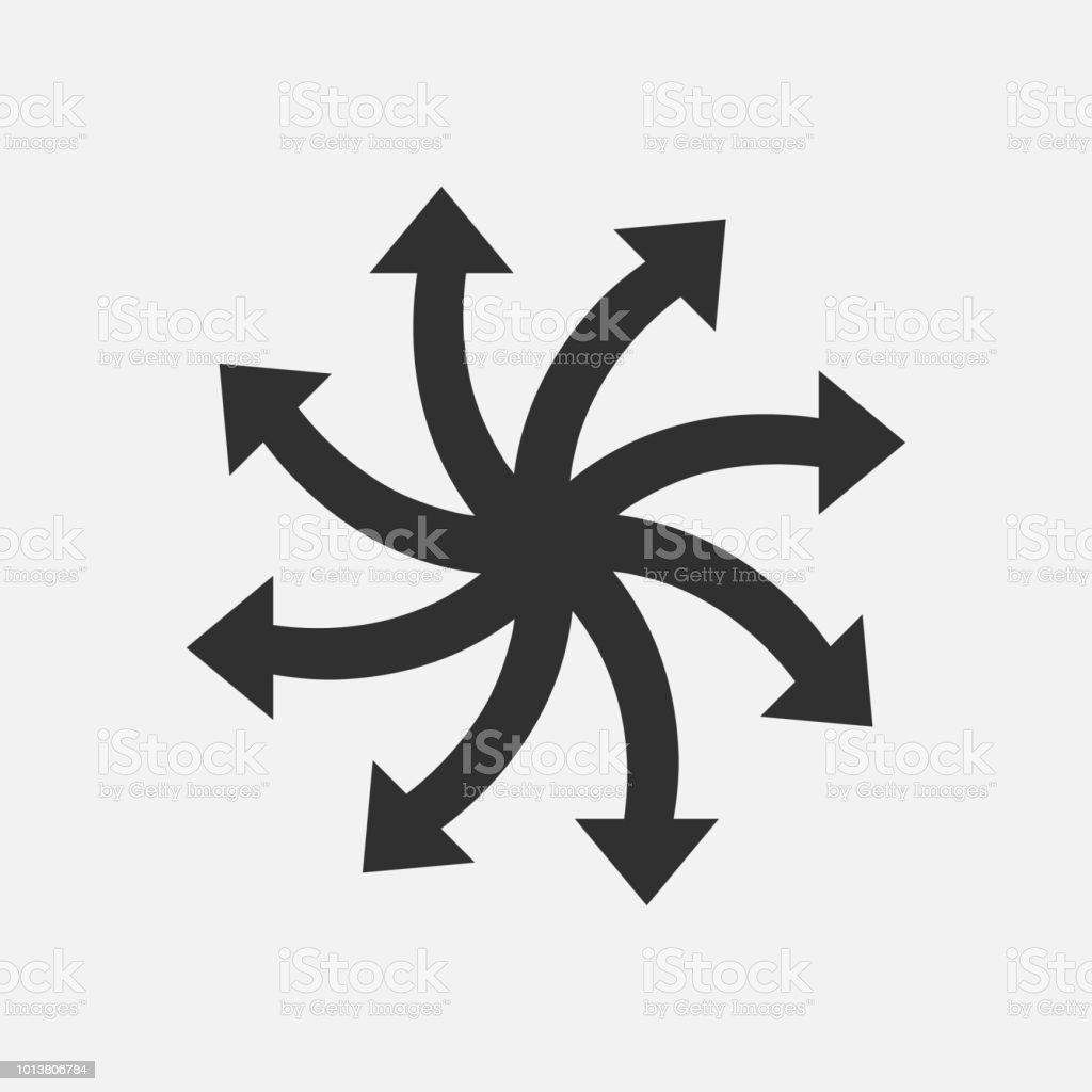 Versatile icône isolé sur fond blanc. Illustration vectorielle. - Illustration vectorielle