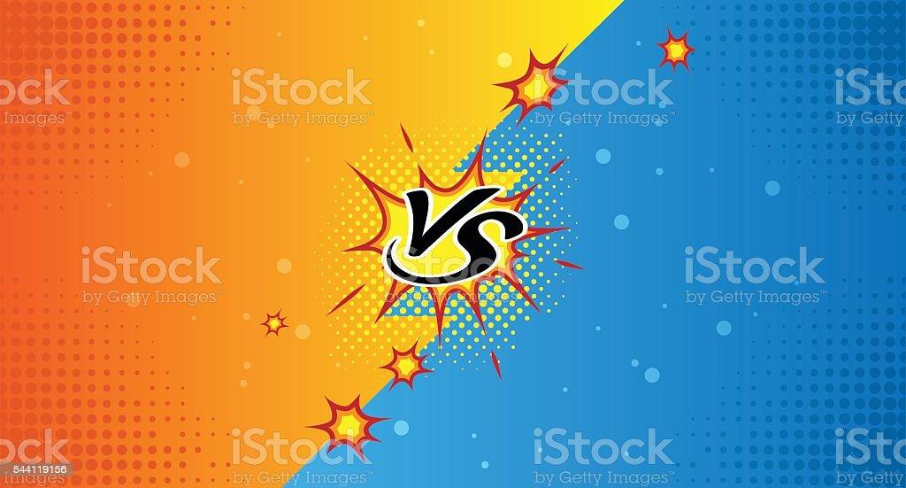 plantilla cómica en comparación con - ilustración de arte vectorial