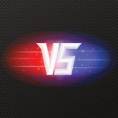 Versus icon with flares