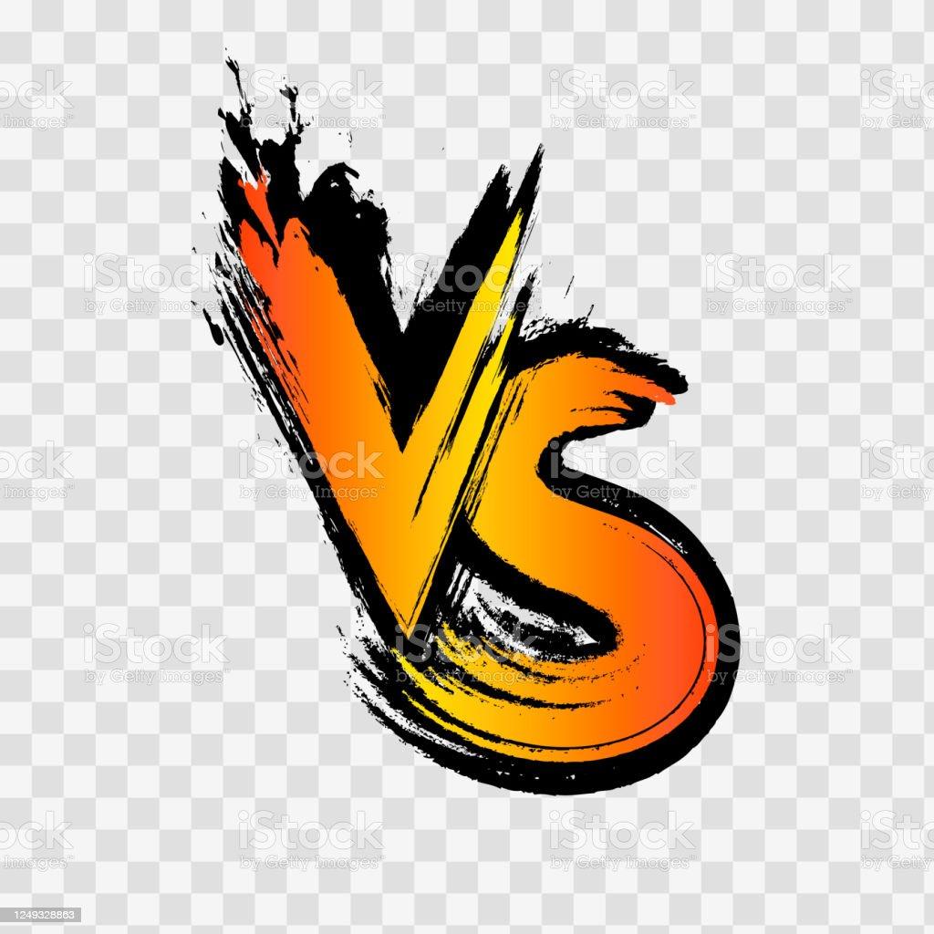 Vs 対文字のロゴ透明な背景上のvs文字競争対立のベクトルイラスト ...