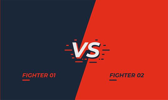 Versus screen design. Battle headline template. Fllat modern design. Vector illustration