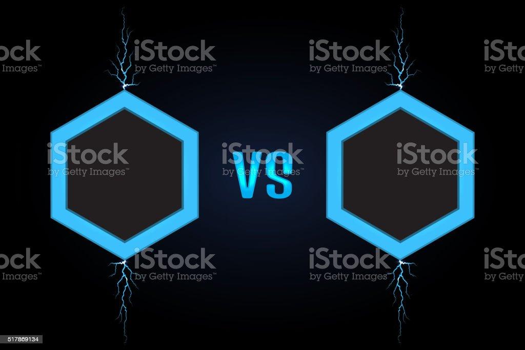 Versus Screen vector vector art illustration