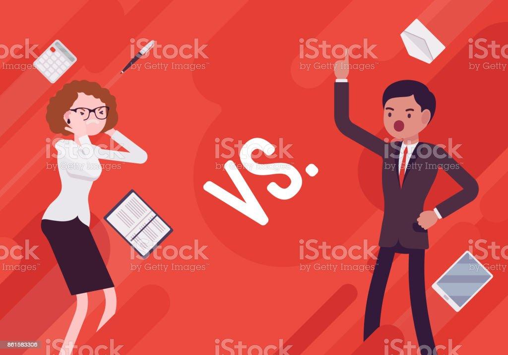 Versus. Vs. Business demotivation poster