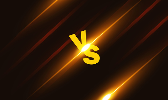 Versus VS letters fight backgrounds in shiny style design.stock illustration