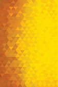 Vertical abstract triangles geometric background - Red, Orange, Yellow.