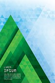 Vertical abstract triangles geometric background - Pine Forest.