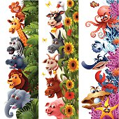 Vertical Animal Banners
