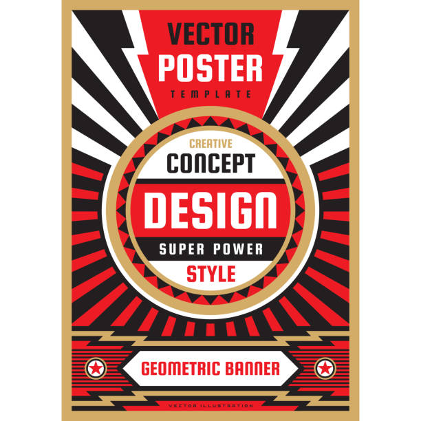 Vertical art poster template in heavy power style. National patriotism freedom vertical banner. Graphic design layout. Music concert rock concept vector illustration. Geometric abstract background. Vertical art poster template in heavy power style. National patriotism freedom vertical banner. Graphic design layout. Music concert rock concept vector illustration. Geometric abstract background. rock music stock illustrations