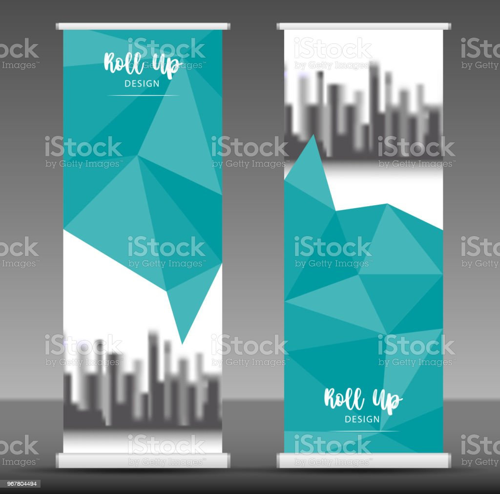vertical banner design roll up banner template poster advertisement layout pull up