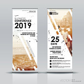 Vertical Banner Design Signboard Advertising Brochure Flyer Template Vector X-banner and Street Business Flag of Convenience, Layout Background