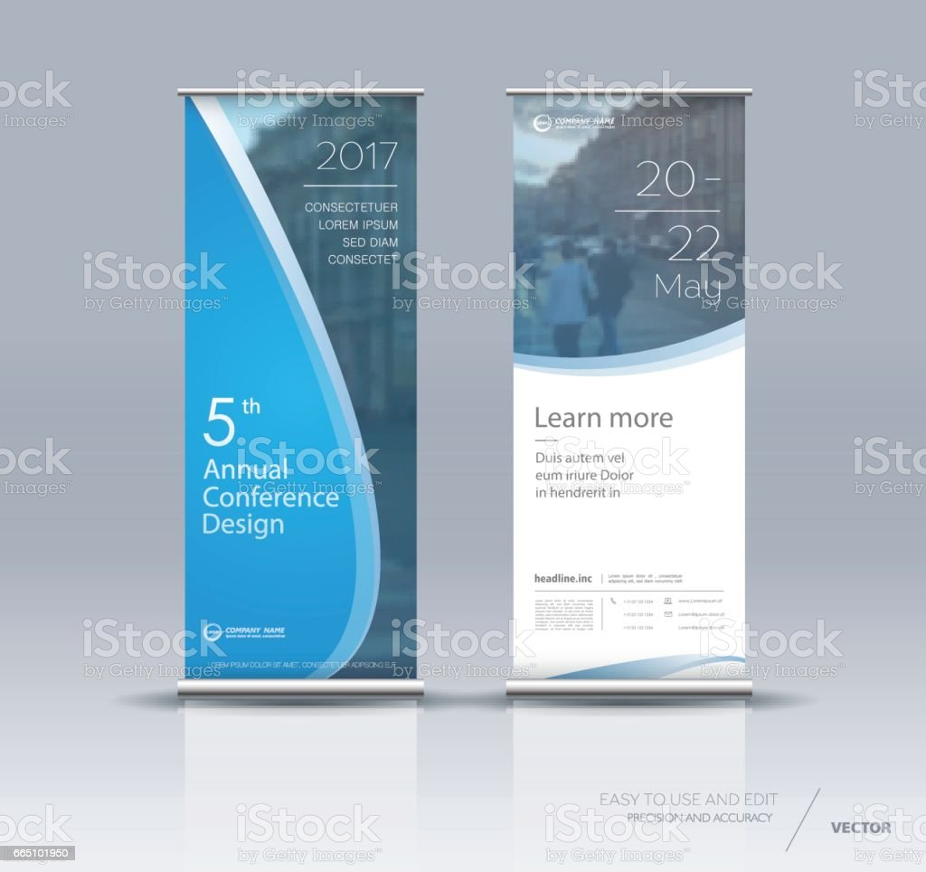 Vertical banner design vector art illustration