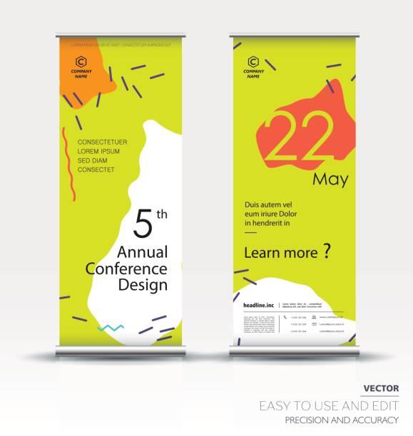 垂直バナー デザイン。ベクトル テンプレート - 展示会点のイラスト素材/クリップアート素材/マンガ素材/アイコン素材