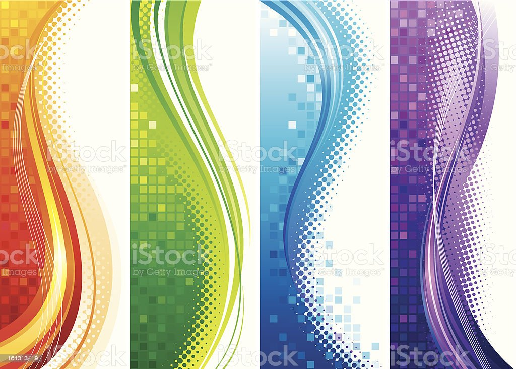 Vertical Banners royalty-free stock vector art