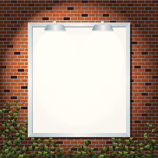 ilustrações de stock, clip art, desenhos animados e ícones de vertical outdoor contra a parede de tijolo - ivy building