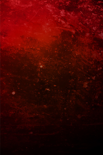 Vertical blank empty vector backgrounds in fierce red colour with cosmic like abstract pattern, smudges and stains all over