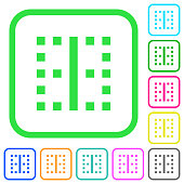 Vertical border vivid colored flat icons