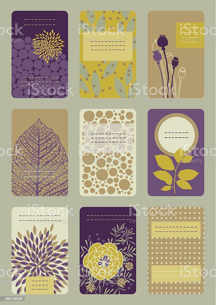 Vertical Business Cards vector art illustration