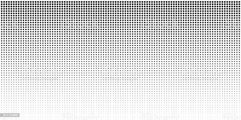 Vertical fond de points de demi-teintes dégradé de bw, modèle horizontal à l'aide de demi-teinte noire dots pattern. vertical fond de points de demiteintes dégradé de bw modèle horizontal à laide de demiteinte noire dots pattern vecteurs libres de droits et plus d'images vectorielles de abstrait libre de droits