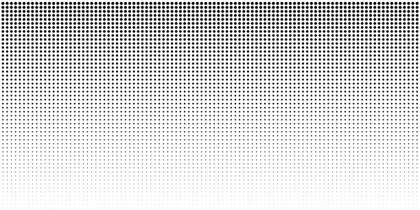 vertical bw gradient halftone dots background, horizontal template using black halftone dots pattern. - half tone stock illustrations, clip art, cartoons, & icons