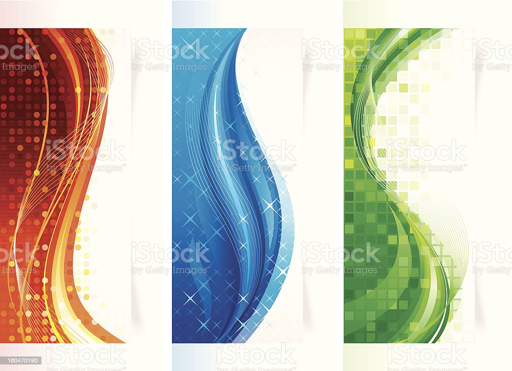 Vertical Curve Banners royalty-free stock vector art