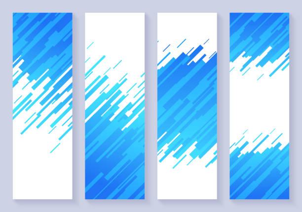 ilustraciones, imágenes clip art, dibujos animados e iconos de stock de vertical dash abstract background banners - zoom meeting