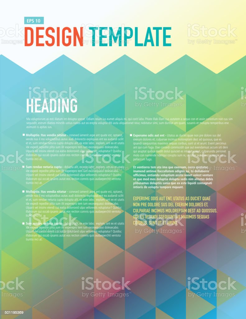 Vertical Design Layout Template Polygonal Rainbow Sample