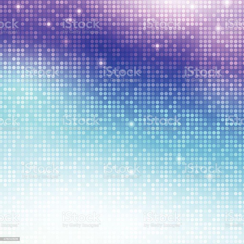 Vertical disco mosaic vector art illustration