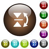 Vertical flip color glass buttons