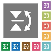 Vertical flip square flat icons