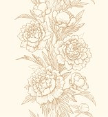 Vertical floral seamless pattern.