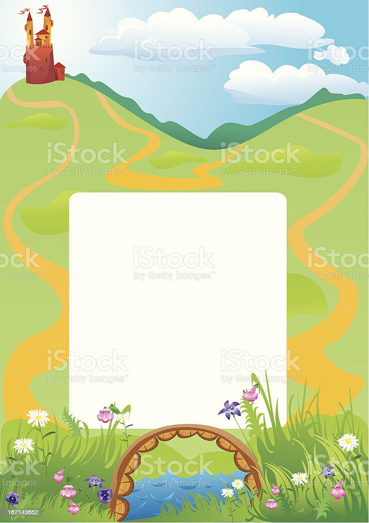 Vertical frame with fairy tale castle royalty-free vertical frame with fairy tale castle stock vector art & more images of backgrounds