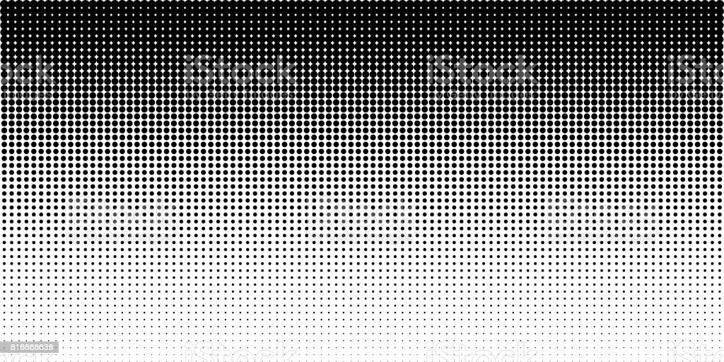 Vertical gradient halftone dots background, horizontal template using halftone dots pattern. Vector illustration - Royalty-free Abstract stock vector