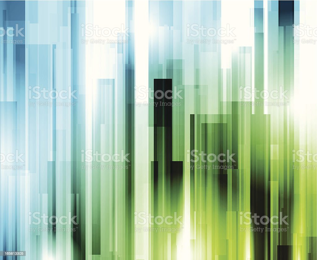 Vertical green and blue illuminated lines royalty-free stock vector art