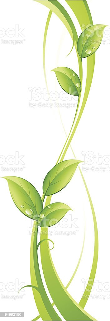 Vertical growth of leaves as a background royalty-free stock vector art