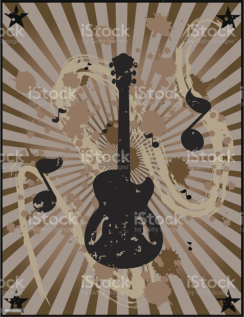 Vertical Grunge Guitar Design royalty-free vertical grunge guitar design stock vector art & more images of abstract