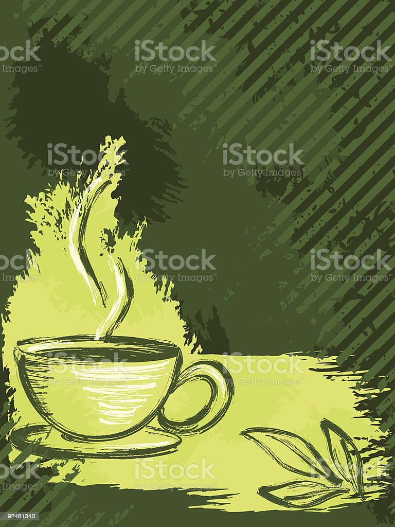Vertical grungy green tea background royalty-free vertical grungy green tea background stock vector art & more images of backgrounds