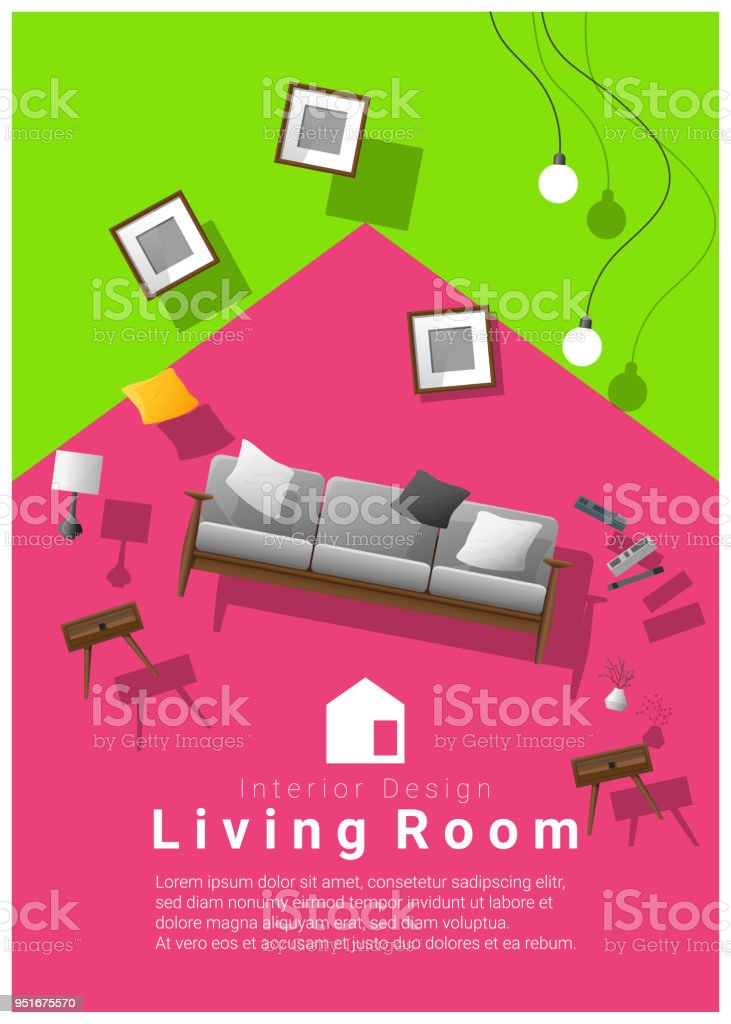 Vertical Interior Banner Sale With Living Room Furniture Hovering On ...