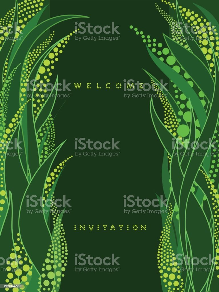 Vertical invitation card with lettering on dark green background royalty-free vertical invitation card with lettering on dark green background stock vector art & more images of backgrounds