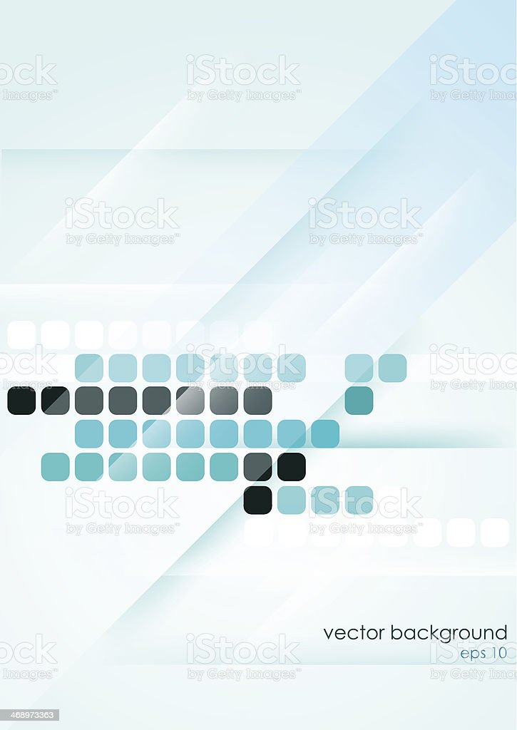 Vertical light blue abstract background with mosaic elements. vector art illustration