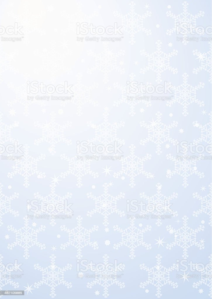 vertical light blue background with snowflakes stock