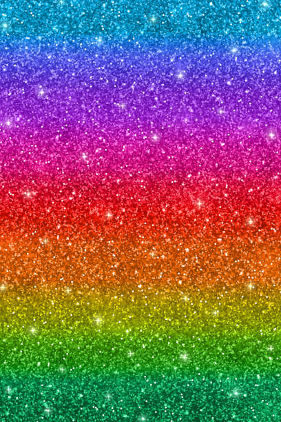 vertical multicolored glitter background - rainbow glitter background stock illustrations, clip art, cartoons, & icons