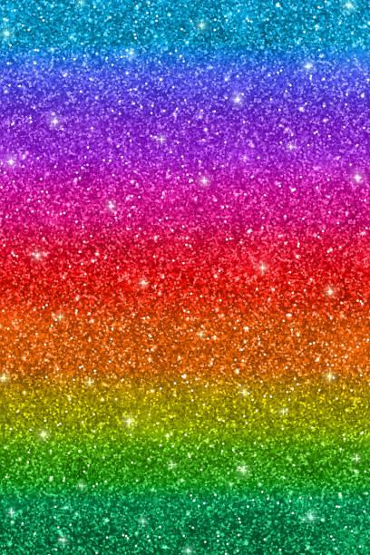 vertical multicolored glitter background - rainbow glitter background stock illustrations