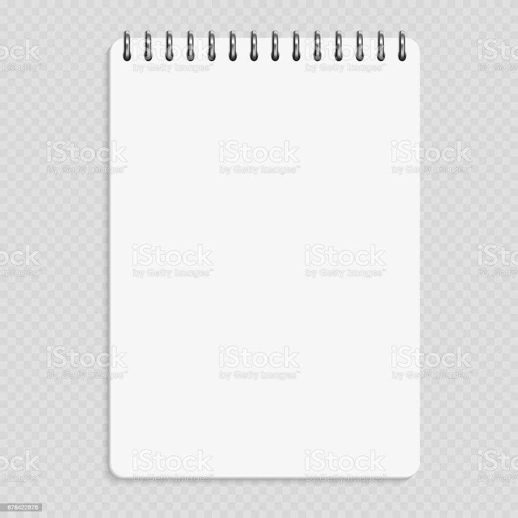 Cuaderno vertical - maqueta de Bloc de notas limpias aislado sobre fondo transparente ilustración de cuaderno vertical maqueta de bloc de notas limpias aislado sobre fondo transparente y más vectores libres de derechos de anillo - joya libre de derechos