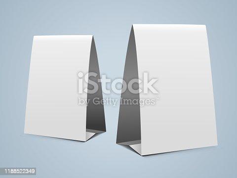 vertical paper tent design